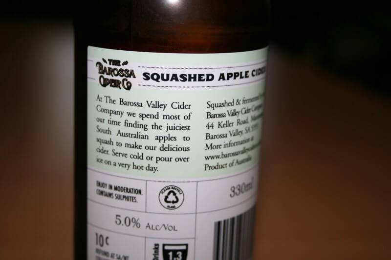 Squashed Apple Cider - Barossa Valley Cider Co