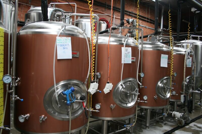 Young Henry's brewing vats